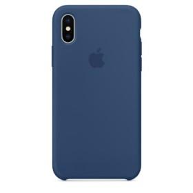 Apple Silicon Case Blue Cobalt  Originale per iPhone X