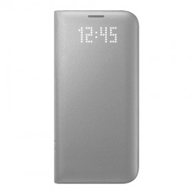 Cover Argento con finestra LED Samsung S8