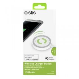 Caricatore da tavolo Wireless, QI compatibile, per smartphone con funzione Wireless charger integrata