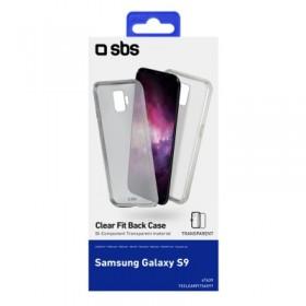 Cover trasparente in doppio materiale TPU e PC per Samsung Galaxy S9, colore trasparente