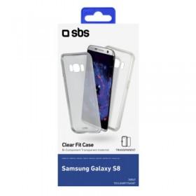 Cover trasparente in doppio matriale TPU e PC colore trasparente per Samsung Galaxy S8