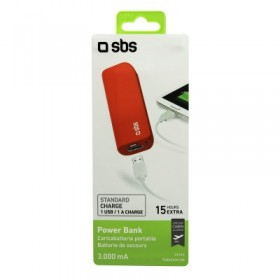 Power Bank 3000 mAh Li-Ion, 1 uscita USB 1 A, Standard charge,  colore Rosso