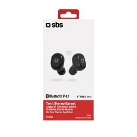 Auricolari Twin TWS SBS, BT 4.0 con tasto alla risposta e porta micro USB per la ricarica