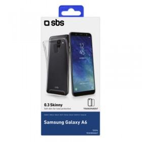 Cover Skinny 03 in TPU SBS, colore Trasparente, per Samsung A6