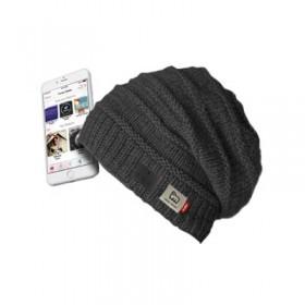 Cappello WOOL, wireless 4.1, con microfono, comandi e auricolari integrati, colore nero