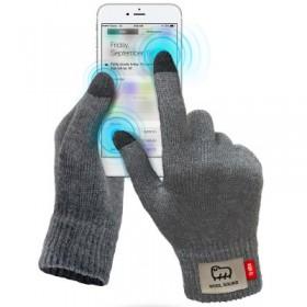 Guanti WOOL touch per touchscreen capacitivi, colore Grigio scuro, taglia M