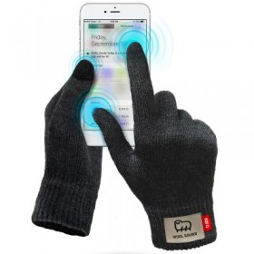 Guanti WOOL touch per touchscreen capacitivi, taglia M, colore Black