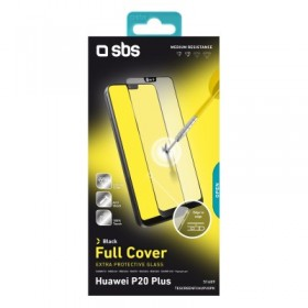 Vetro temperato full cover per Huawei P20 Plus/P20 Pro, colore nero